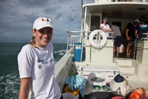 One of the new additions to the shark tagging team! Thanks for reading. Hugs and fishes, Michelle