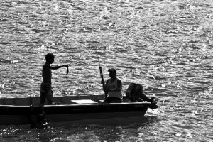 Fishermen illegally fishing in a protected area in Southeast Brazil. Photo credit: Rafael Guedes/Marine Photobank