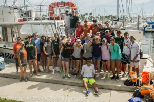 The Westminster students, teachers, and the RJD team after a great day on the water