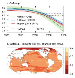 Figure 1. Predicted Ocean Surface pH Through the Year 2100.