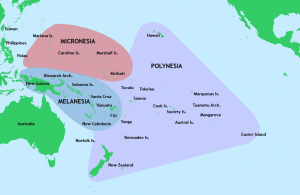 A map of the Pacific Island region. https://commons.wikimedia.org/wiki/File:Pacific_Culture_Areas.jpg