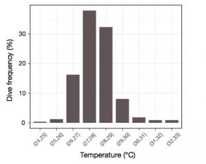 Figure 1. Extreme temperatures recorded in-situ by the Argos-Linked Fastloc GPS tags on green turtles Chelonia mydas of 2012.) (Chambault, et al.)